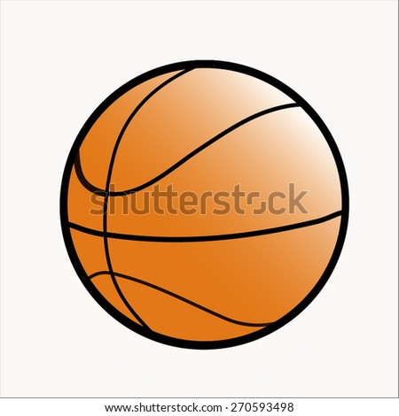 leather basketball isolated on a white background - vector - stock vector
