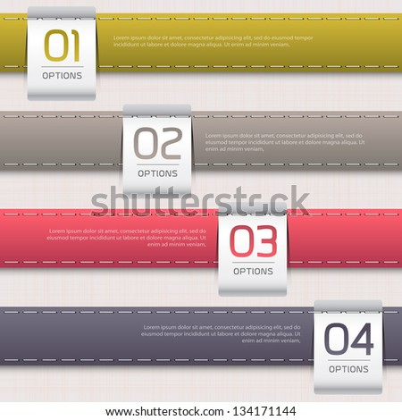 Leather color Design template / can be used for infographics / numbered banners / horizontal cutout lines / graphic or website layout vector - stock vector