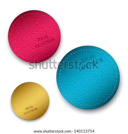Leather samples - vector illustration
