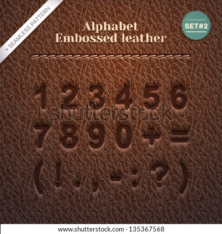 Embossed letters stock photos images pictures for Leather embossing letters