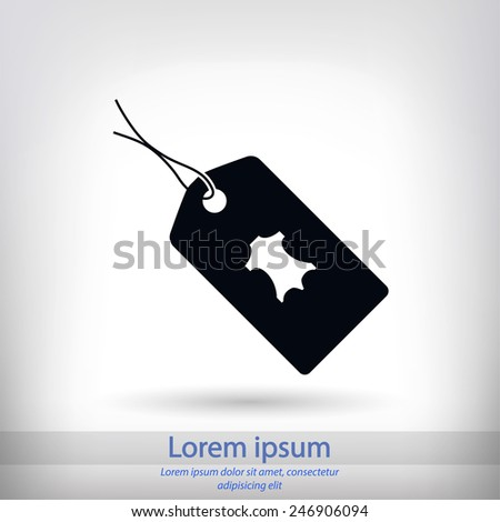 leather tag icon, vector illustration. Flat design style  - stock vector