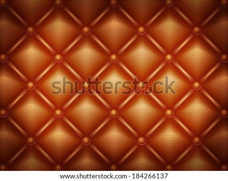 Leather textured background with buttons. Vector illustration.