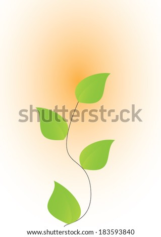 leaves growth  - stock vector