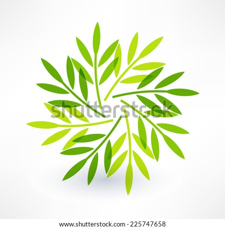 Leaves icon. Natural motive. Logo design. - stock vector