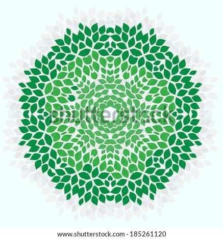 Leaves ornament - stock vector