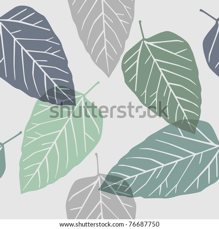 leaves - seamless pattern - stock vector