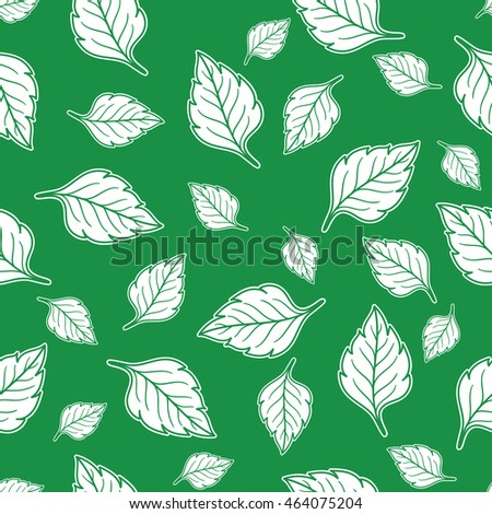Leaves seamless pattern.  Wallpaper, cloth design, fabric, paper, cover, textile, weave, wrapping.