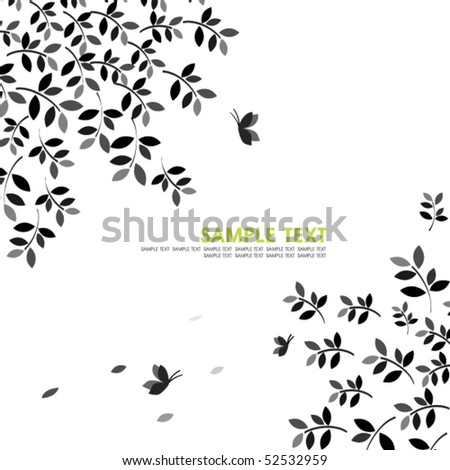 leaves silhouette.vector - stock vector
