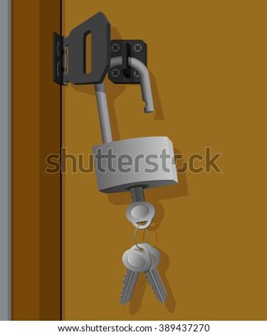 Leaving the key in the door  - stock vector