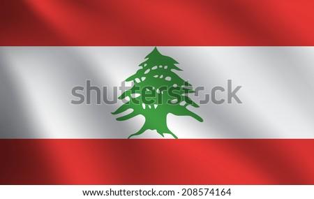 Lebanon flag - stock vector