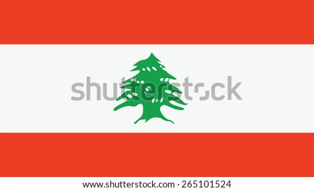 Lebanon Flag for Independence Day and infographic Vector illustration. - stock vector