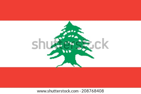 Lebanon vector flag isolated on background. - stock vector