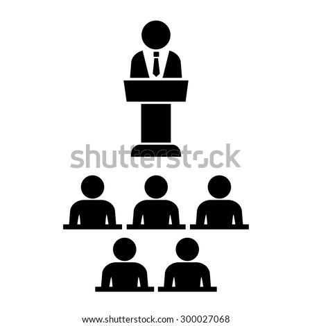 Lecture icon - stock vector