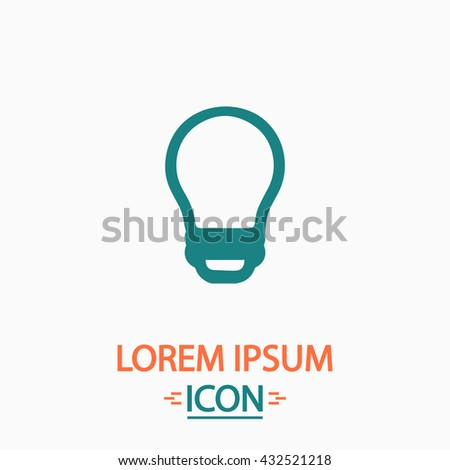 Led Bulb Flat icon on white background. Simple vector illustration