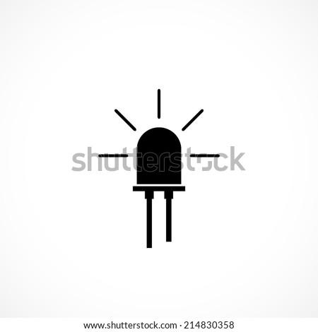 led, flat icon isolated on white background - stock vector