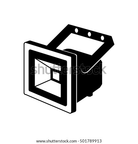 Led Floodlight Icon Vector Illustration Stock Vector HD (Royalty ...