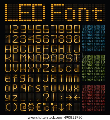 Led Scoreboard Font - #traffic-club