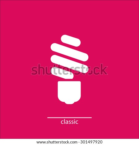 led icon - stock vector