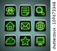 LED icons - stock vector