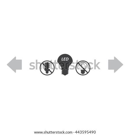 LED lamp Icon, LED lamp Icon Vector, LED lamp Icon JPG, LED lamp Icon JPEG, LED lamp Icon EPS, LED lamp Icon design - stock vector