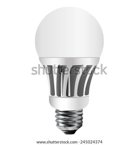 Led lamp, vector bulb, isolated, led bulb, lamp, bulb, energy saving bulb - stock vector