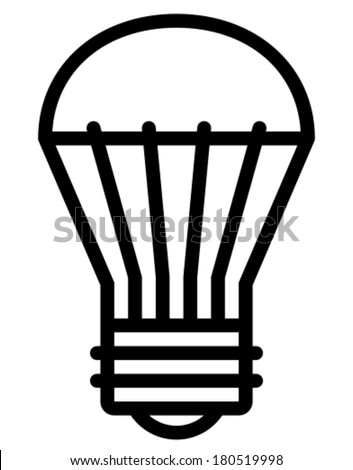 LED light bulb vector icon - stock vector