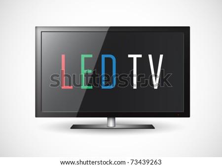 LED TV - stock vector