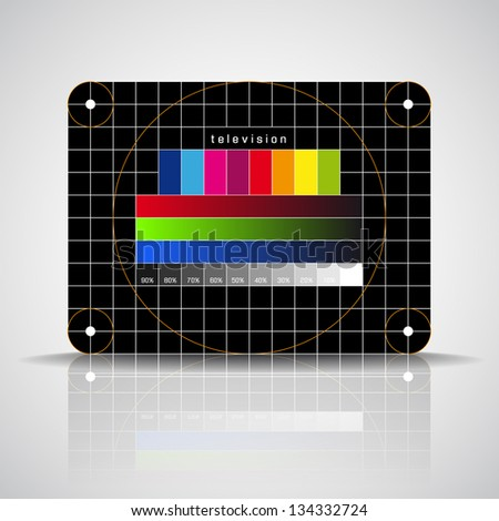 LED TV - color test pattern - test card - vector - stock vector
