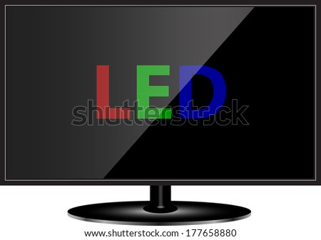 LED TV technology - stock vector