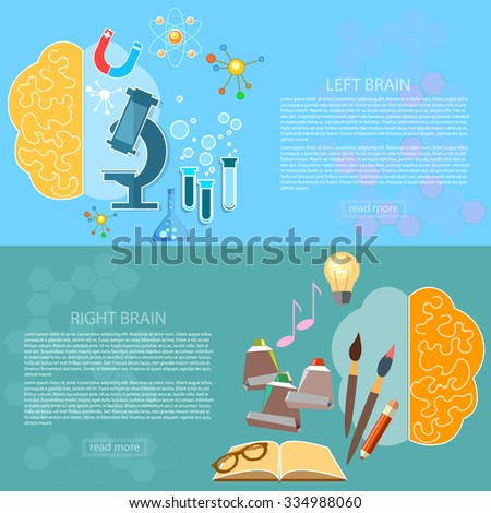 Left Right Brain Art Creativity Logic Stock Vector ...