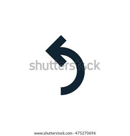 Left Curved Arrow Icon Vector