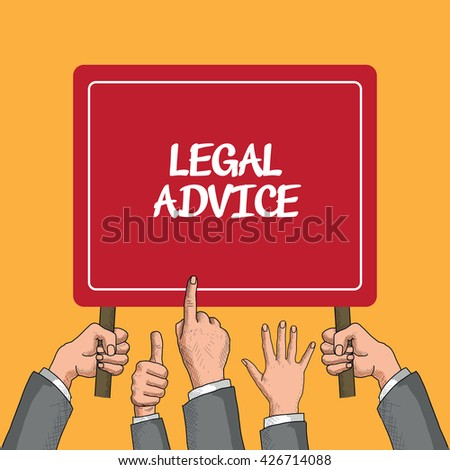 Legal Advice Compliance Consultation Expertise Help Browsing Concept - stock vector