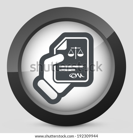 Legal document icon - stock vector