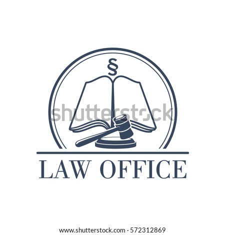 Legal Office Icon Symbol Judge Gavel Stock Vector Hd Royalty Free