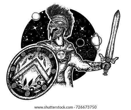 Legionary Ancient Rome Greece Symbol Bravery Stock Vector Royalty