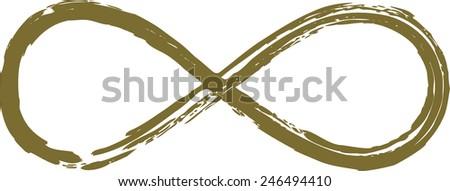 Lemniscate, Symbol Infinity, Mathematics, Loop - stock vector