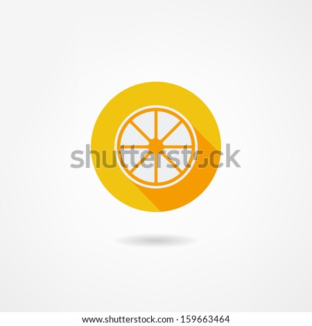 lemon icon - stock vector