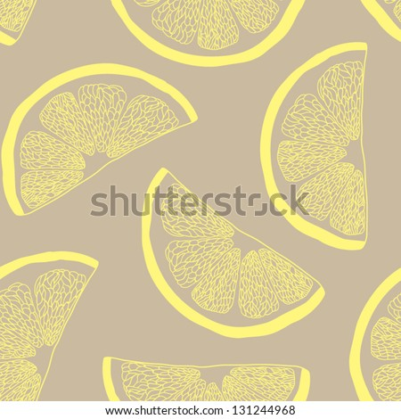Lemon seamless pattern - stock vector