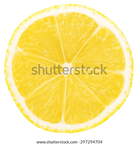 lemon slice isolated on a white background - stock vector