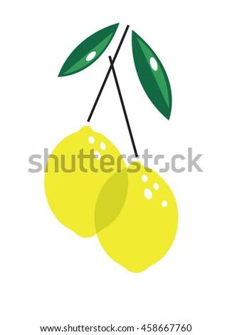Lemons isolated - stock vector
