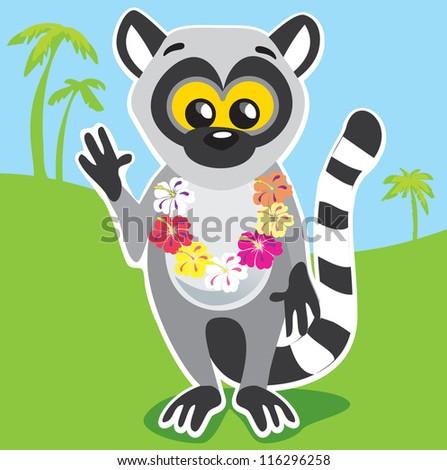 Lemur - stock vector