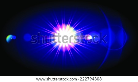 lens flare icon for your designs - stock vector