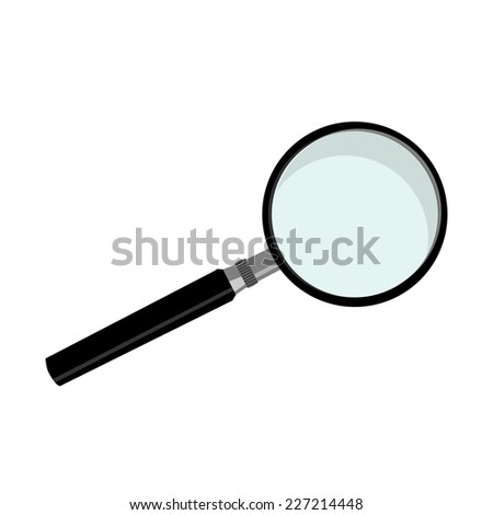 Lens, lens vector, magnifying glass, magnifier - stock vector