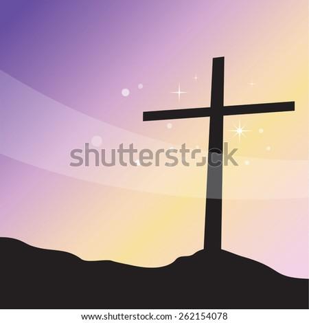Lenten Cross. Glory. - stock vector