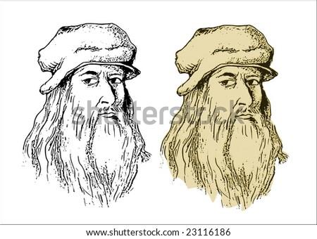 Leonardo Da Vinci - stock vector