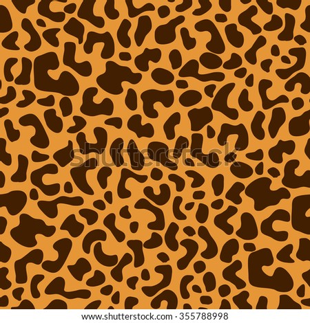 Leopard classical seamless pattern. Safari textile collection. Brown on yellow. Backgrounds & textures shop. - stock vector