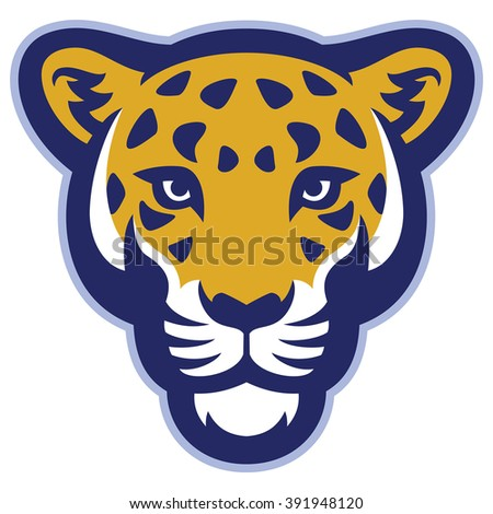 Leopard head mascot - stock vector