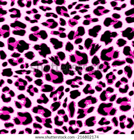 Leopard seamless pattern design, vector illustration background - stock vector