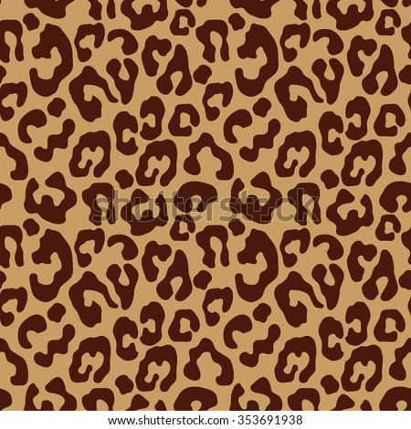 Leopard simple linear seamless pattern. Safari textile design collection. Spots on beige. Backgrounds & textures shop. - stock vector