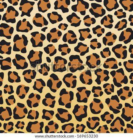 leopard skin background (leopard skin texture) - stock vector